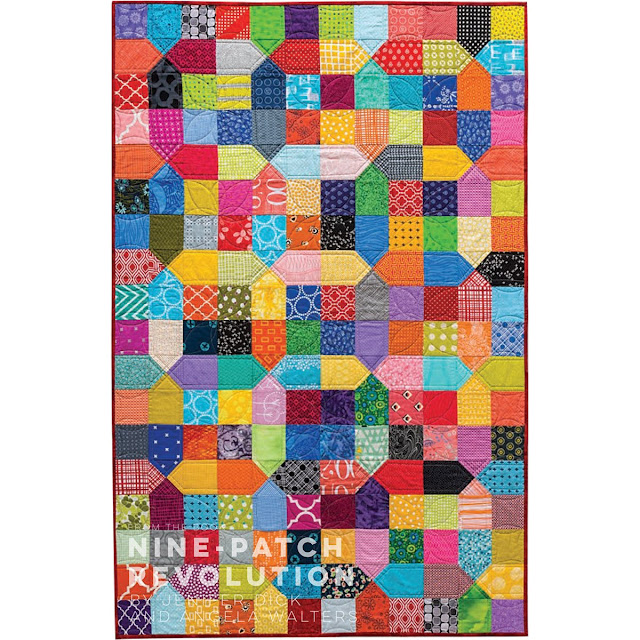 Nine Patch X quilt from Nine Patch Revolution book by Jenifer Dick and Angela Walters