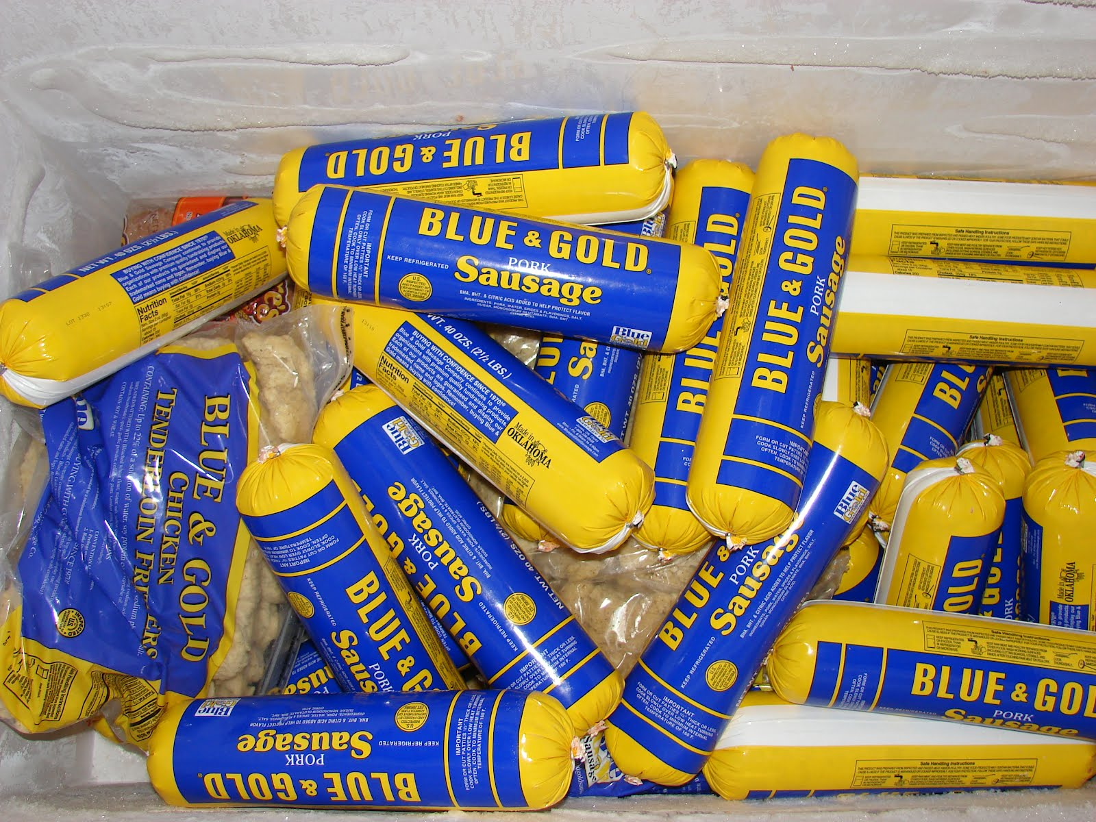Blue And Gold Sausage 92