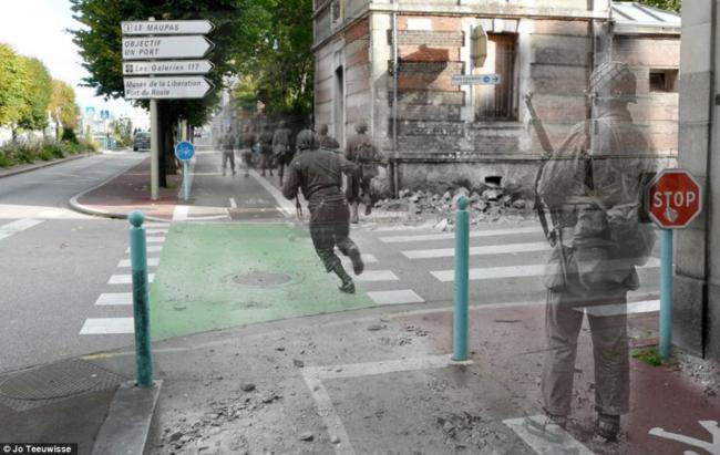 Ambientes da Segunda Guerra Mundial foram recriados por uma fotógrafa