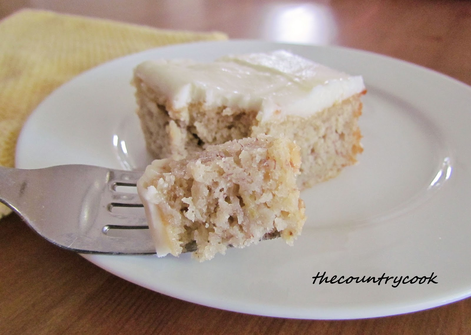 Banana Cake And Frosting