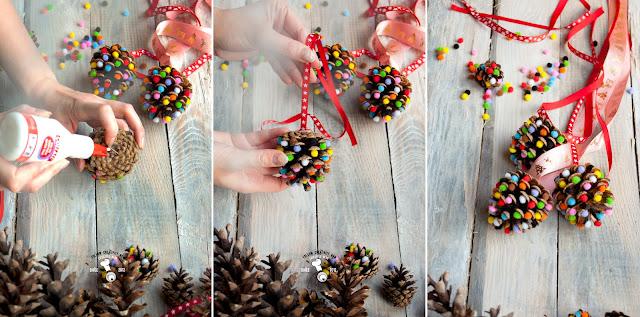 świąteczne dekorache diy zrób sam ozdoby na choinkę kreatywnie ozdobić dom na święta Christams handmade eco decor