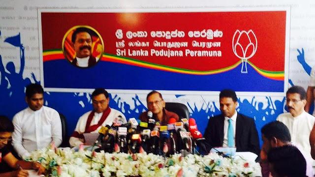 Maiden News Conference of Sri Lanka Podujana Peramuna