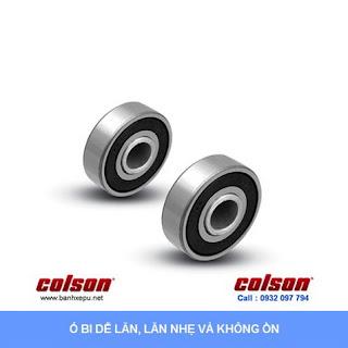 Bánh xe đẩy cao su trục tròn Colson Mỹ phi 125 - 5 inch | 2-5651-448 www.banhxeday.xyz