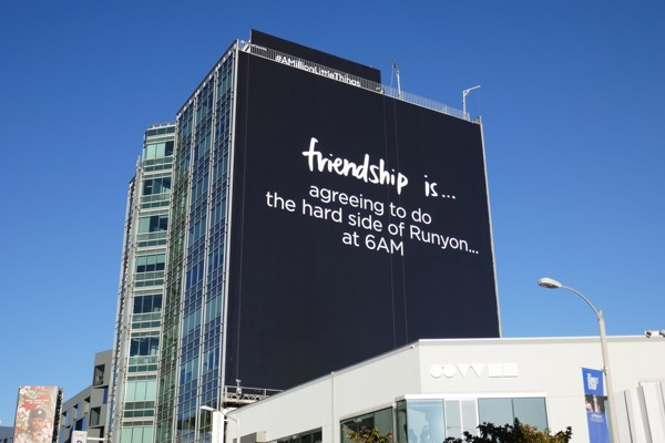 Friendship is runyon 6am Million Little Things billboard