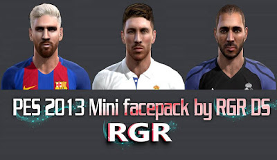 PES 2013 Mini facepack by Rgr DS