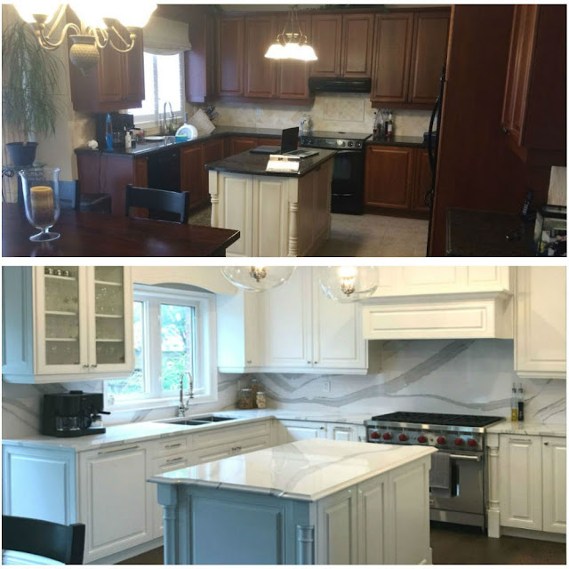 Oakville Kitchen Before After Pictures