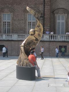 spettacolo di giochi d'acqua della Fontana del Cervo alla Reggia di Venaria