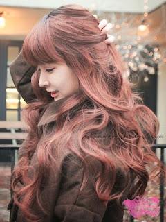 model rambut wanita korea berwarna