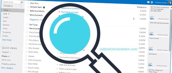 Cómo buscar personas y más en Outlook.com iniciar sesion