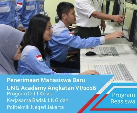 beasiswa penuh d3 lng academy di pnj
