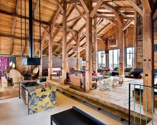 desain rumah kayu unik mengesankan di pegunungan alpen