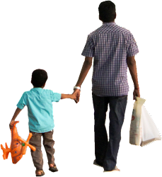 indian cutout walking child parent son dad kid father fathers shopping human students involved mom males village dads architecture daughter