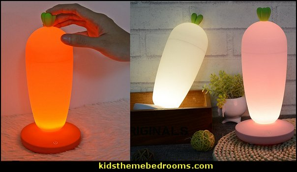 Carrots Night Lights Home Decoration Lamp Baby Bedroom