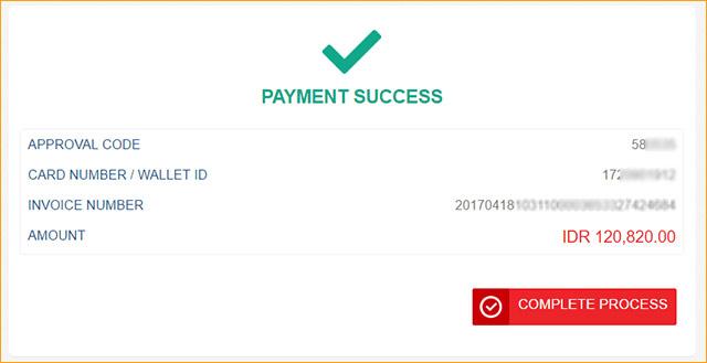 Pembayaran di AliExpress sukses
