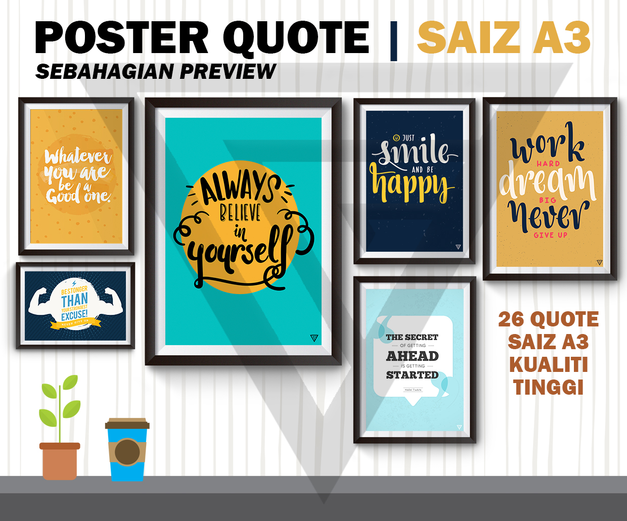Poster quote english percuma