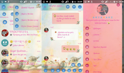 Droid Chat v12.0.25 Love Birds Theme Base BBM v3.0.1.25 Apk