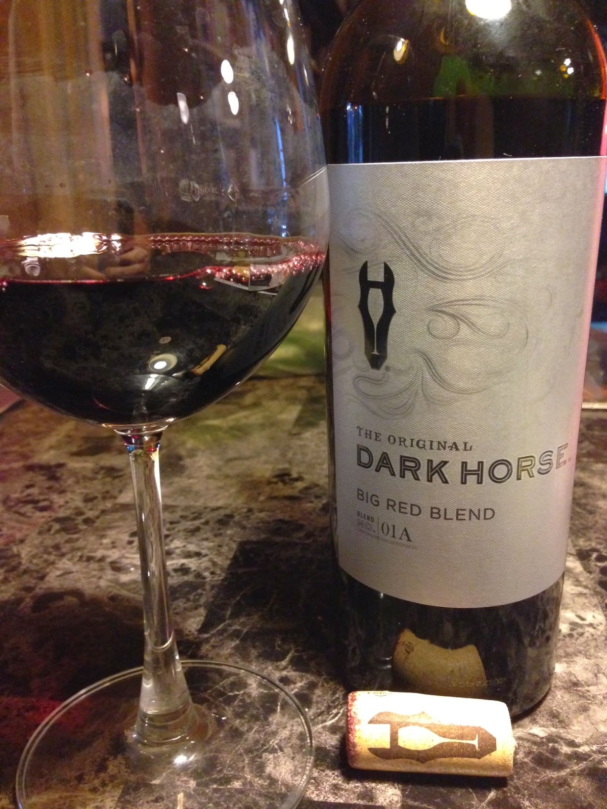 Wine Food and Fun with the Lumpy One 2012 Dark Horse