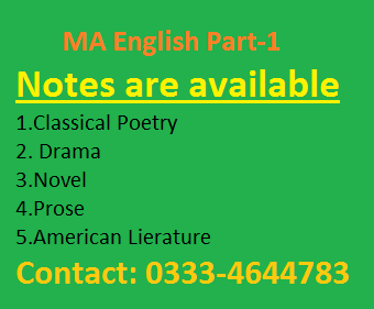 optional english ba notes
