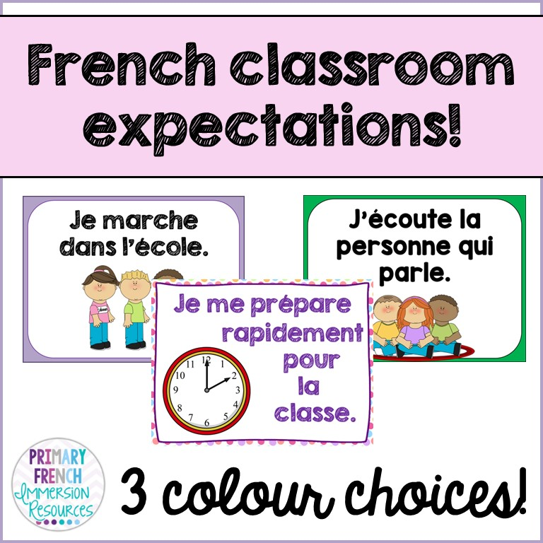 Classroom expectation posters - Primary French Immersion Resources