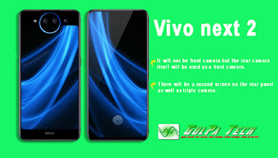 Vivo nex 2 Smartphone, there can be Two Screens.