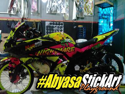 Cutting Sticker 3D Ninja 250 Hijab | Abyasa Stickers Cutting