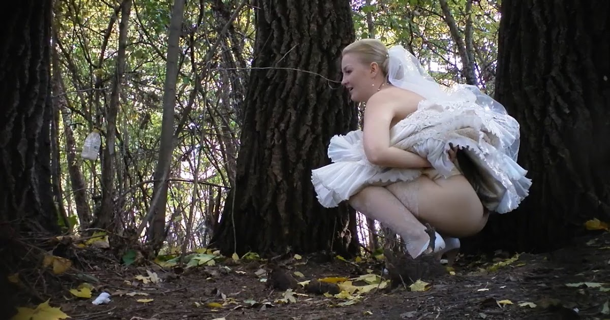 Pissing bride to be gets fingered