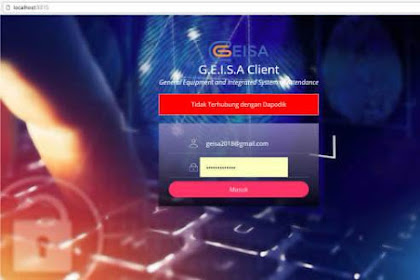 Instal Geisa Client Agar Hadir GTK Terhubung ke Dapodik Secara Online