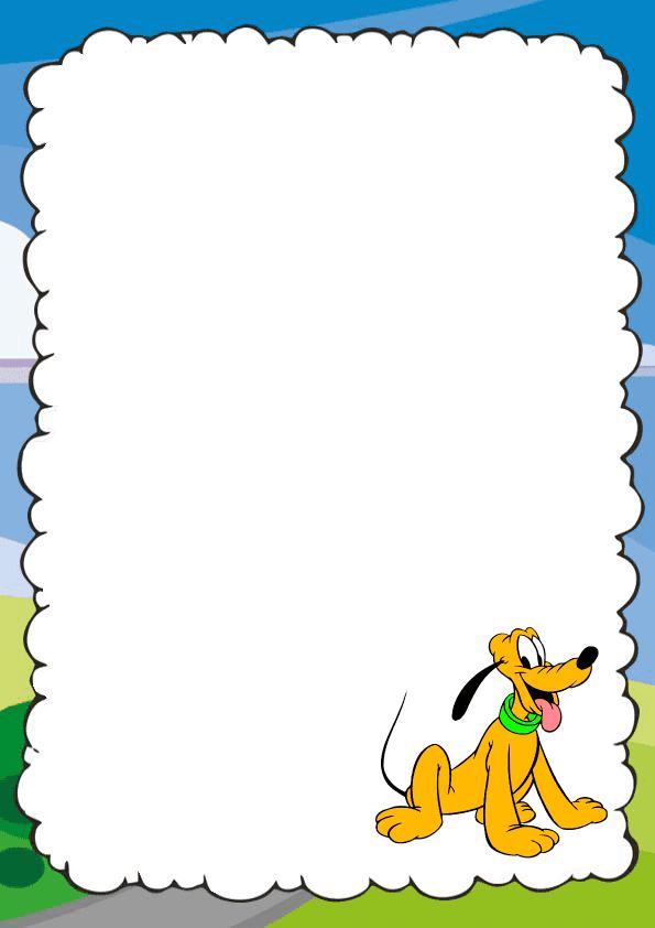 Bonita caratula para cuaderno de Mickey Mause - Pluto