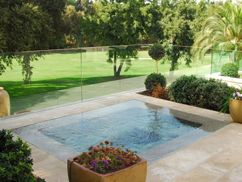 Simple swimming pool design idea backyard design idea for Simple backyard pools