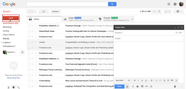 Cara Mengirim Email di Gmail Lengkap