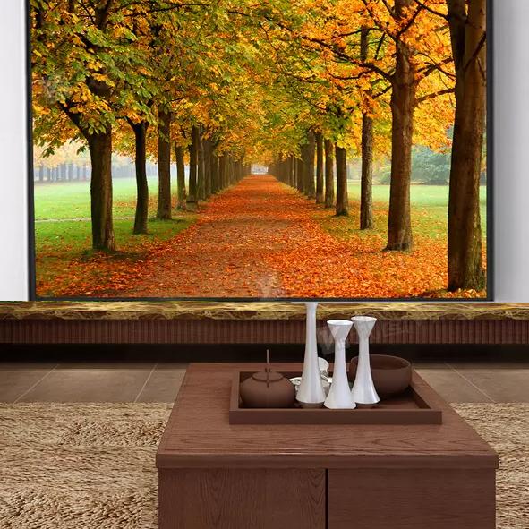 Tranh hàng cây mùa thu