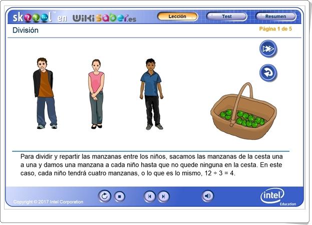 """División"" (Aplicación interactiva de Matemáticas de Primaria)"