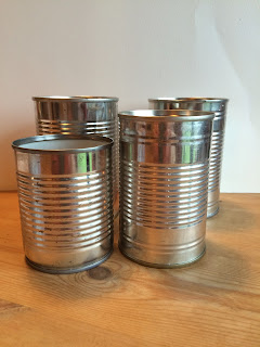 Tins cleaned for upcycling