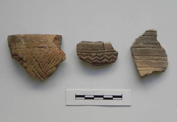 Tiestos de cerámica de la Edad de Cobre