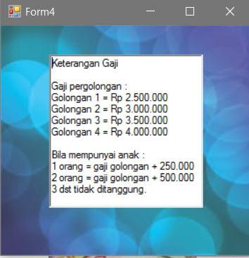 keterangan menghitung gaji