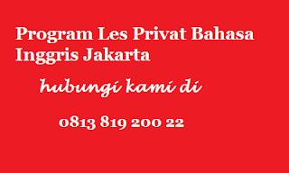 guru les privat bahasa inggris jakarta