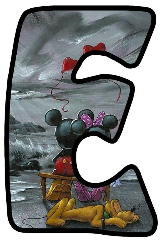 Abecedario De Minnie Y Mickey Enamorados Minnie And