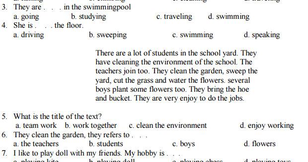 Soal Bahasa Inggris SD Kelas 6 Semester 1 Kunci Jawaban