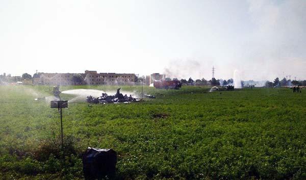 Muere el piloto del avión  accidentado en Albacete cuando volvía del desfile 12-0