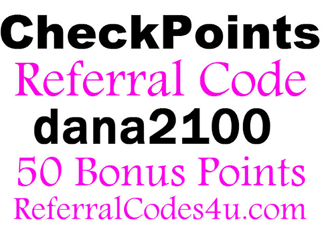 CheckPoints App Referral Code, CheckPoints Promo Code, CheckPoints Bonus Code, CheckPoints Invite Code