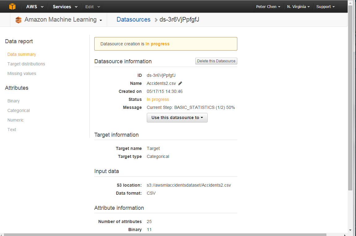 Experimenting With Aws Machine Learning For Classification Data