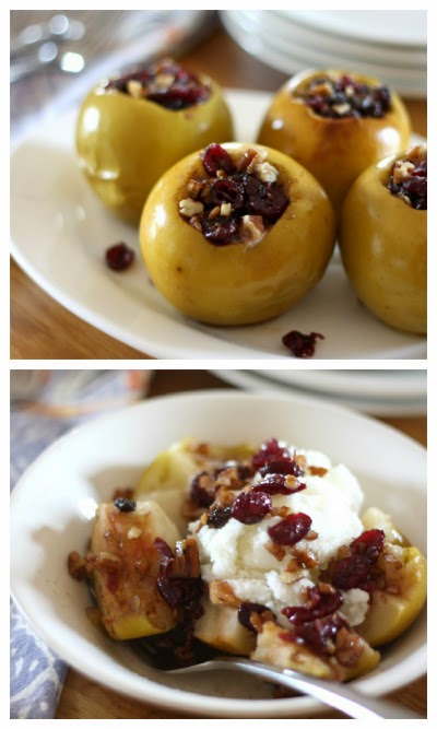 Stuffed Apples in the CrockPot from Barefeet in the Kitchen found on SlowCookerFromScratch.com