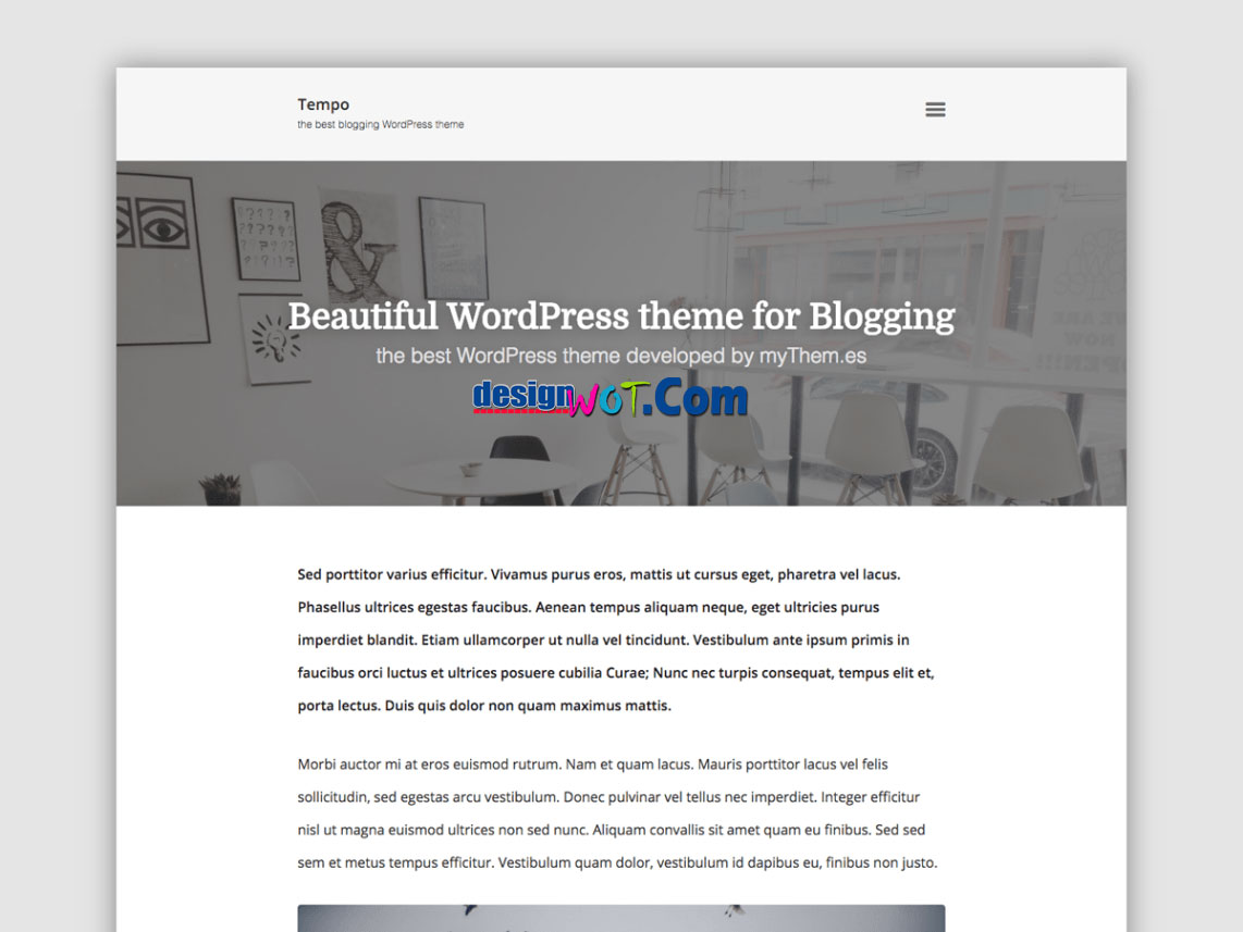 TEMPO Responsive WordPress Theme