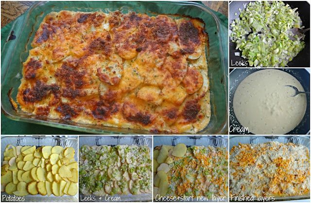 Scalloped Potato Leek Gratin