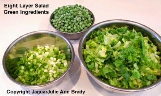 Eight Layer Salad Green Ingredients