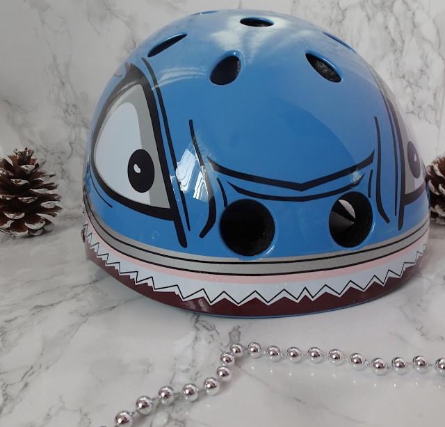 blue hammerhead shark kids bike helmet