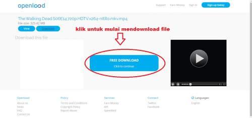 Cara Download di OPENLOAD
