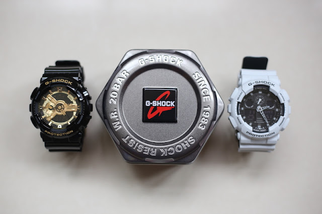 CASIO G-SHOCK GA-110GB-1A / GA-100L-7A 手錶