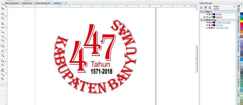 logo hut banyumas ke-447 vector coreldraw editable