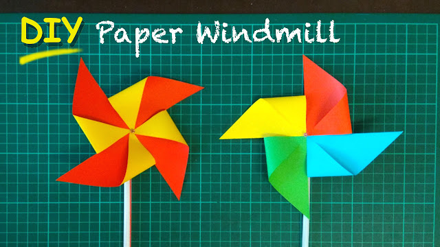 paper craft photos app windmill